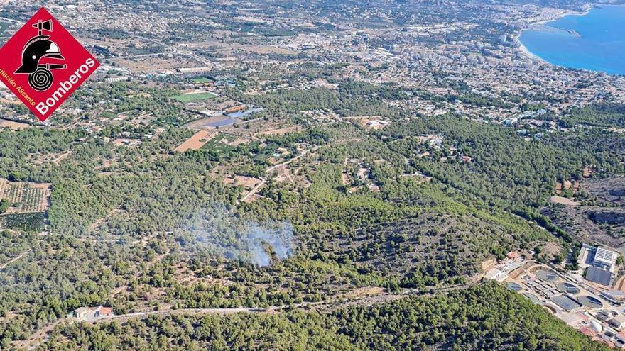 Incendio en el Parque Natural de Serra Gelada en Benidorm