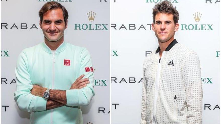 Federer y Thiem visitan el salón de Rolex-Rabat