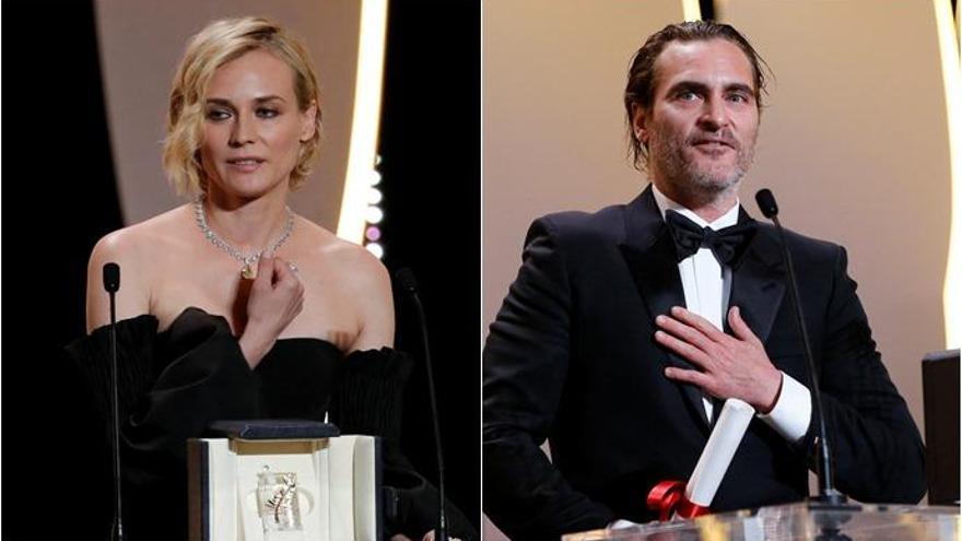 Diane Kruger y Joaquin Phoenix, mejores actores de Cannes