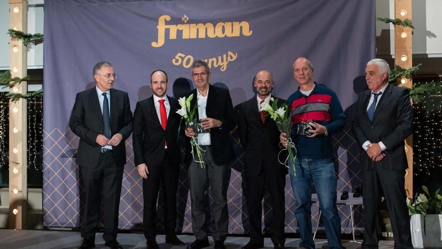 L'acte del 50è aniversari de Friman reconeix els fundadors i els professionals amb més trajectòria