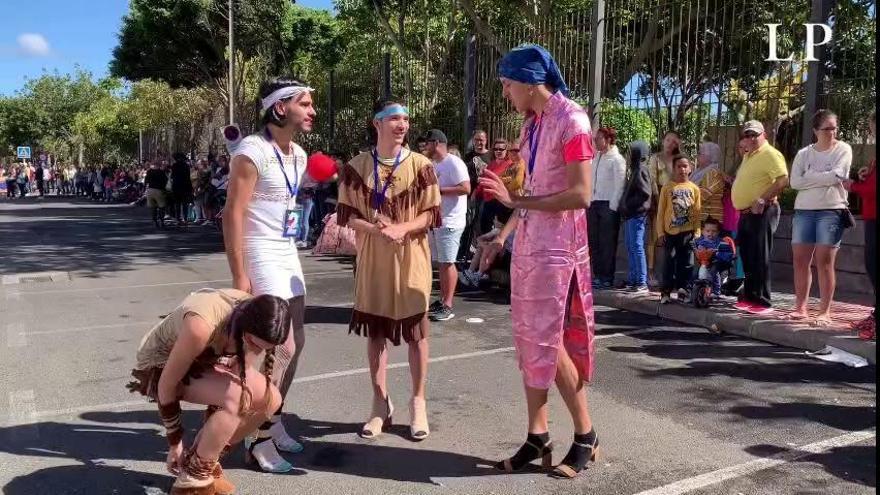 Carrera de tacones en el Carnaval de Telde