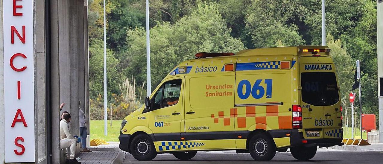 Entrada del servicio de Urgencias del Hospital Álvaro Cunqueiro.    // R. GROBAS