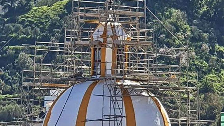 La basílica de Teror recupera el color