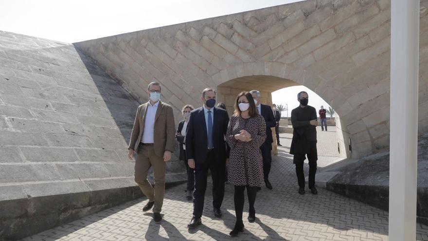 El ministro Ábalos ha visitado las obras del Baluard des Princep de Palma