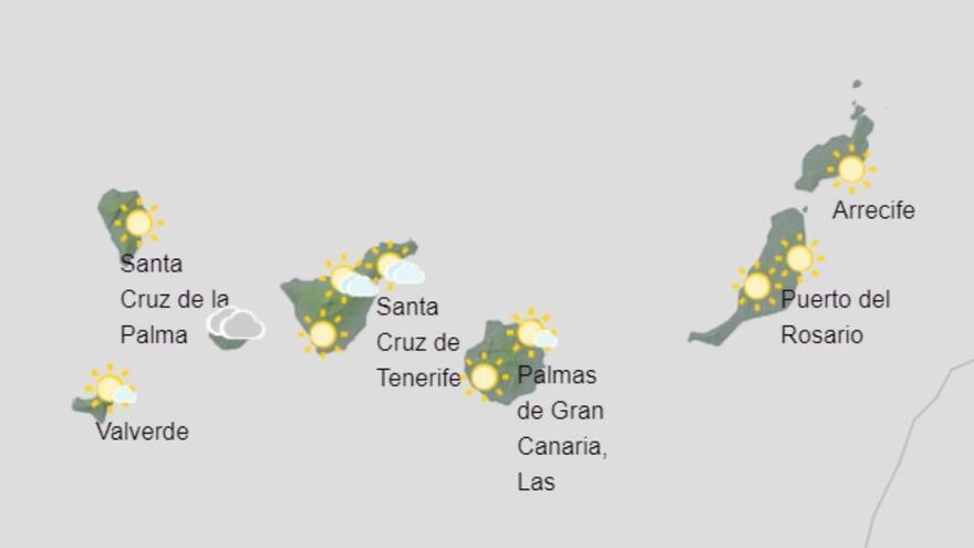 Ascenso de las temperaturas en zonas altas este domingo en Canarias