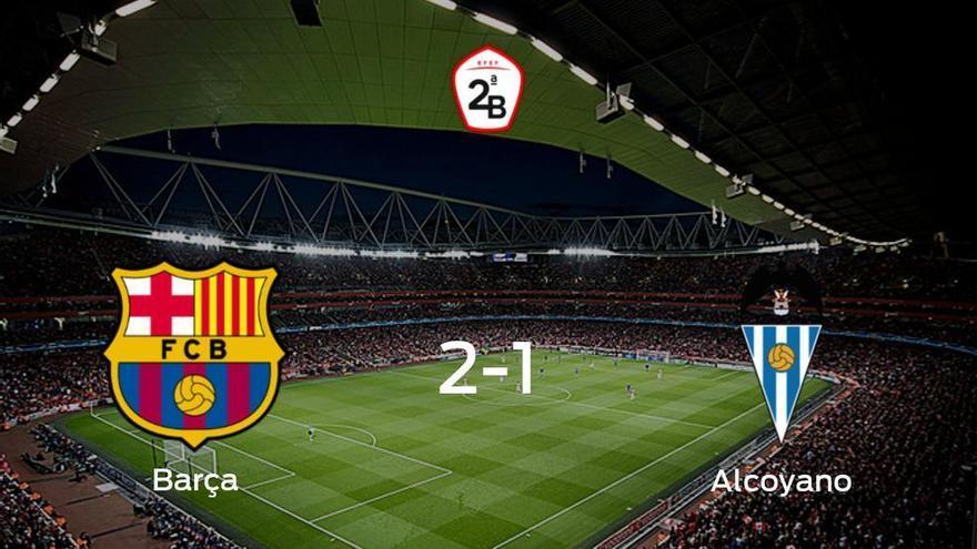 El Barcelona B gana 2-1 en casa al Alcoyano