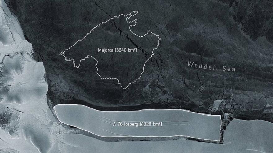 Un iceberg más grande que Mallorca se desprende de la Antártida