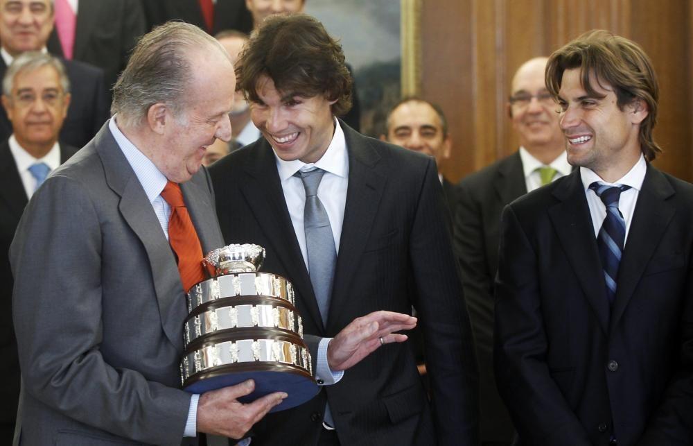 El rey Juan Carlos junto a Rafael Nadal, con el que tenía una gran sintonía.
