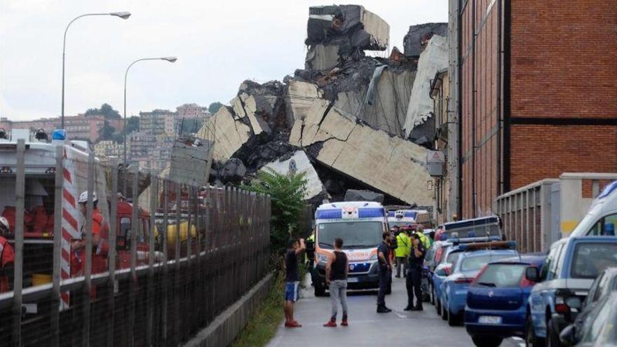 Divulgan un video del momento exacto del derrumbe del puente de Génova