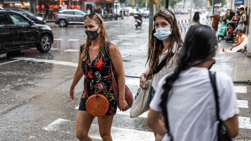 La primera tormenta del verano deja 84,5 litros en dos horas en Formentera