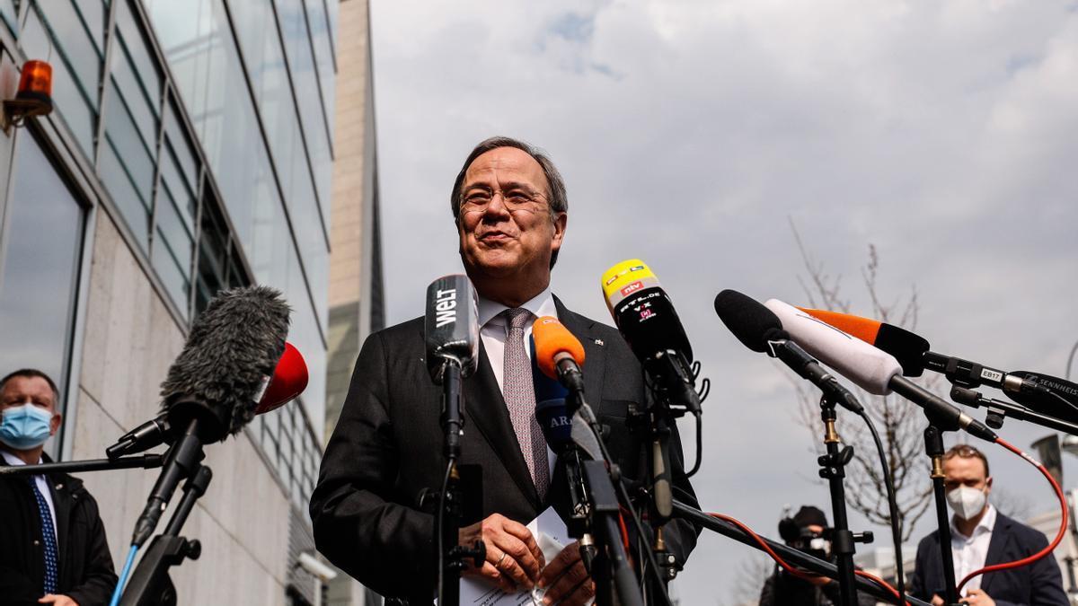 Armin Laschet, principal aspirante a la sucesión de Merkel.