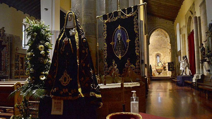 Semana Santa en Benavente: La devoción,  en los templos