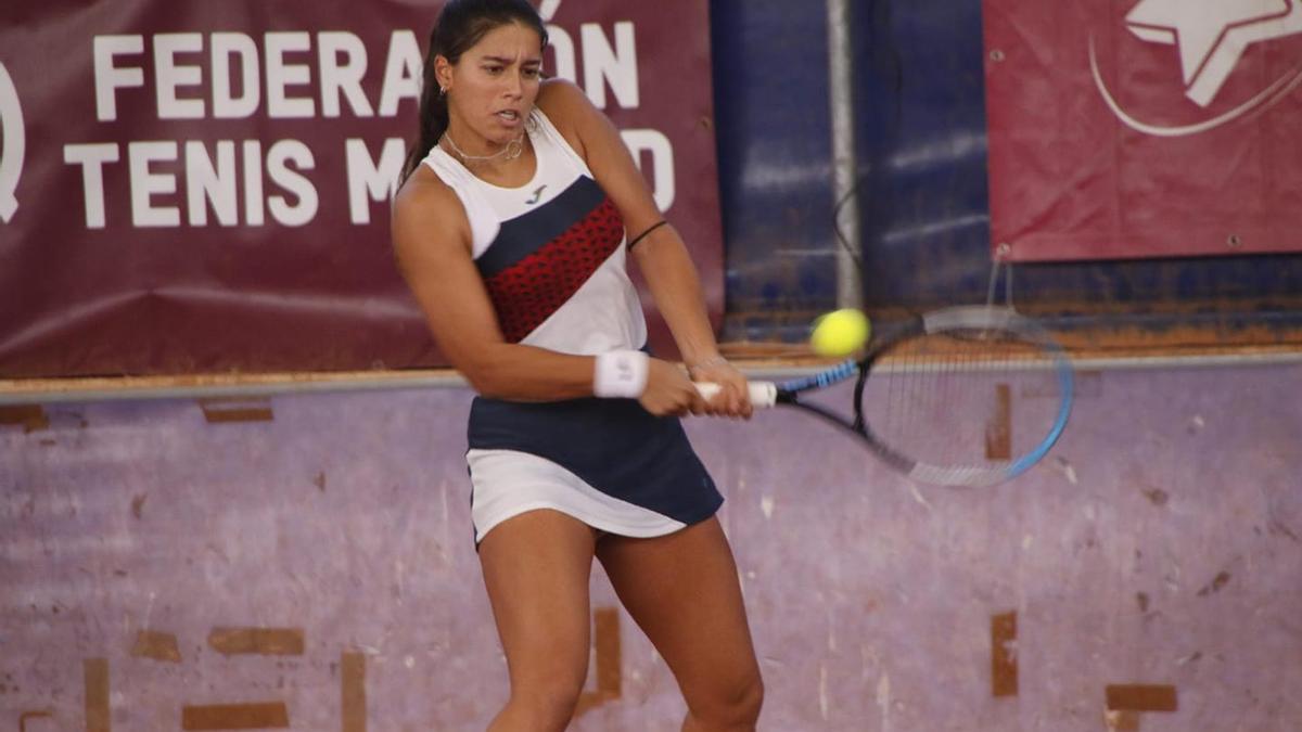 Jessica Bouzas durante un partido de esta temporada.
