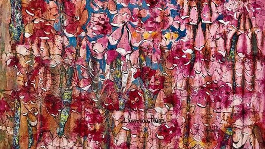 Abellán Juliá y su  'Lloviendo flores' inundan Babel Arte Contemporáneo