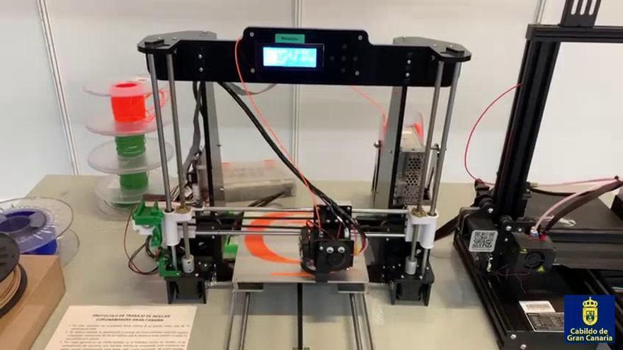Gran Canaria producirá 100 viseras al día con impresoras 3D