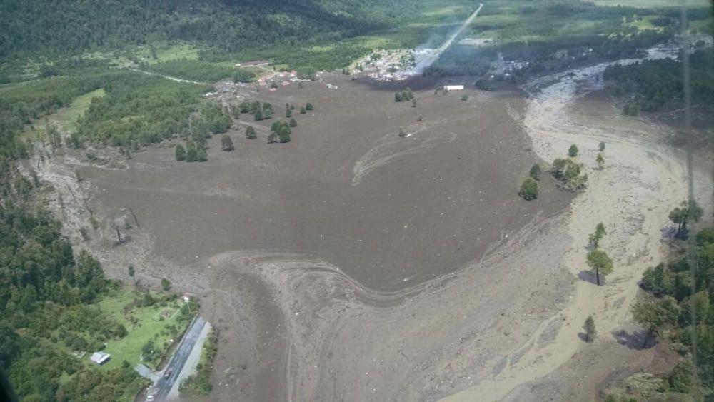 Un deslizamiento de tierra sepulta un pueblo en Chile
