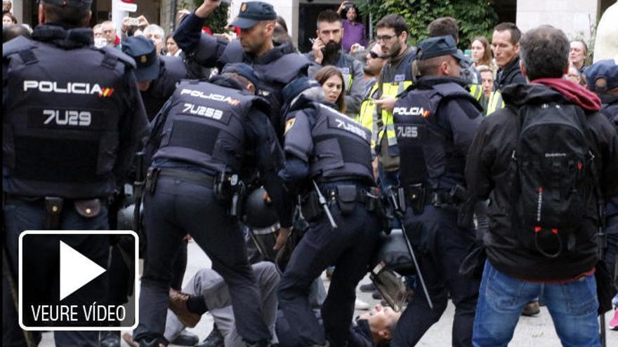 El jutjat investiga 23 policies nacionals per les càrregues de l'1-O a col·legis de Girona