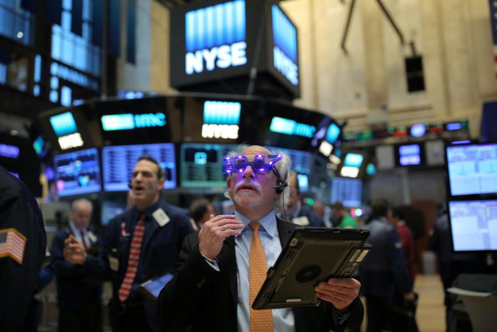 Última jornada laboral del año en Wall Street, Nueva York, EEUU.