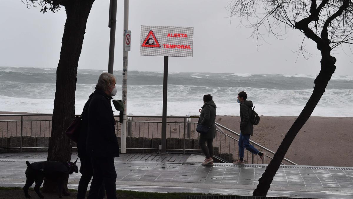Efectos de la borrasca 'Bella' en A Coruña