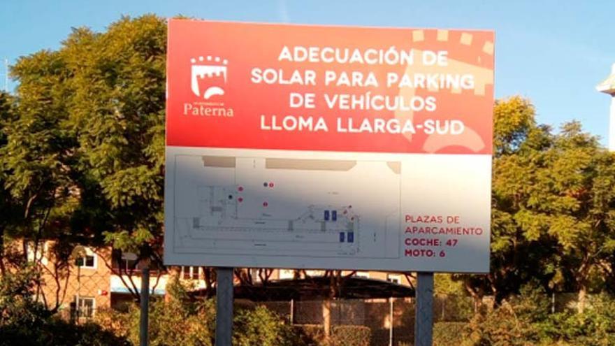 Compromís per Paterna lamenta la oportunidad perdida con el Parking de Lloma Llarga