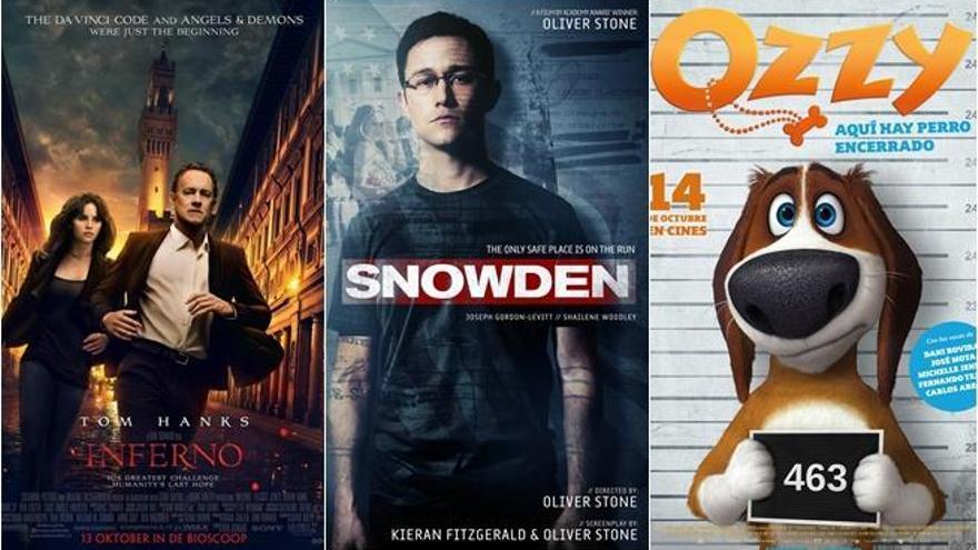 'Inferno', con Tom Hanks, compite en los cines con 'Snowden'