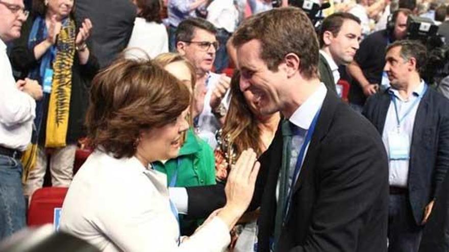 """Casado agradece su """"entrega"""" al PP y a España"""