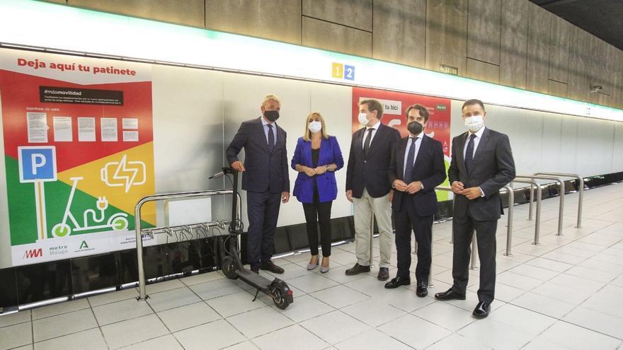 Metro de Málaga instala en El Perchel su primer aparcamiento de patinetes con puntos de recarga