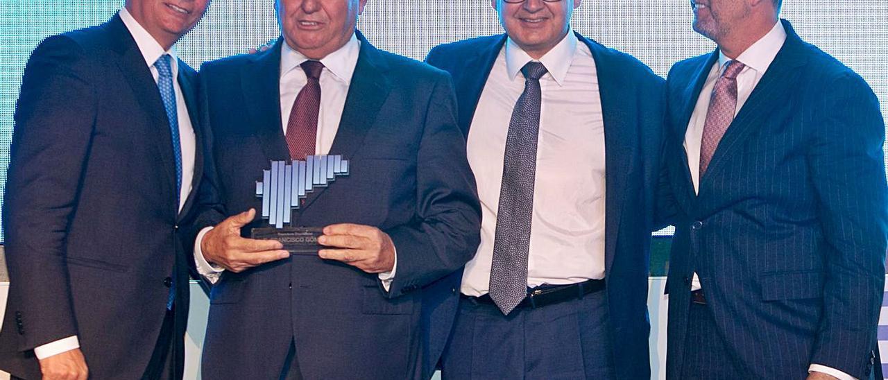 Salvador Navarro, Francisco Gómez, Juan  José Sellés y Perfecto Palacio, hace un año. |