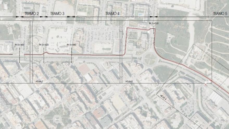 Un carril bici unirá las rotondas de ses Figueretes y Can Misses en Ibiza