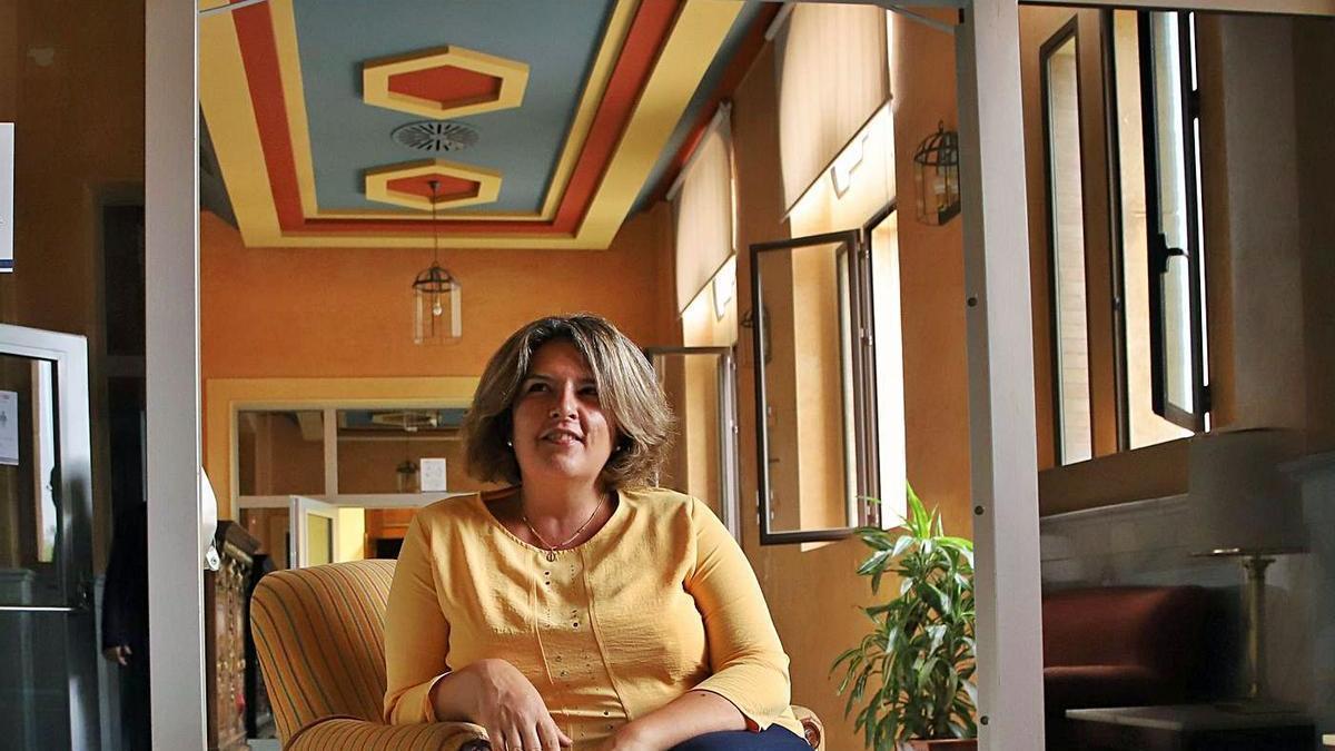 La vicerrectora de Estudiantes y Transparencia, Carmen Balbuena, en el Rectorado.