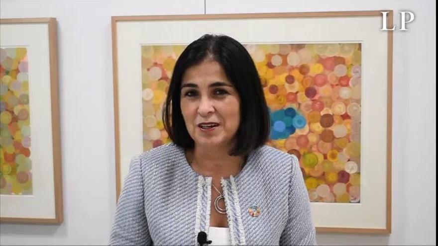 Carolina Darias invita a vivir las fiestas del Pino con responsabilidad
