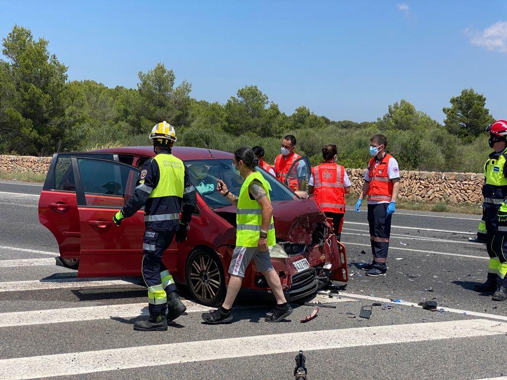 Dos heridos en una colisión en la carretera de Cap Blanc