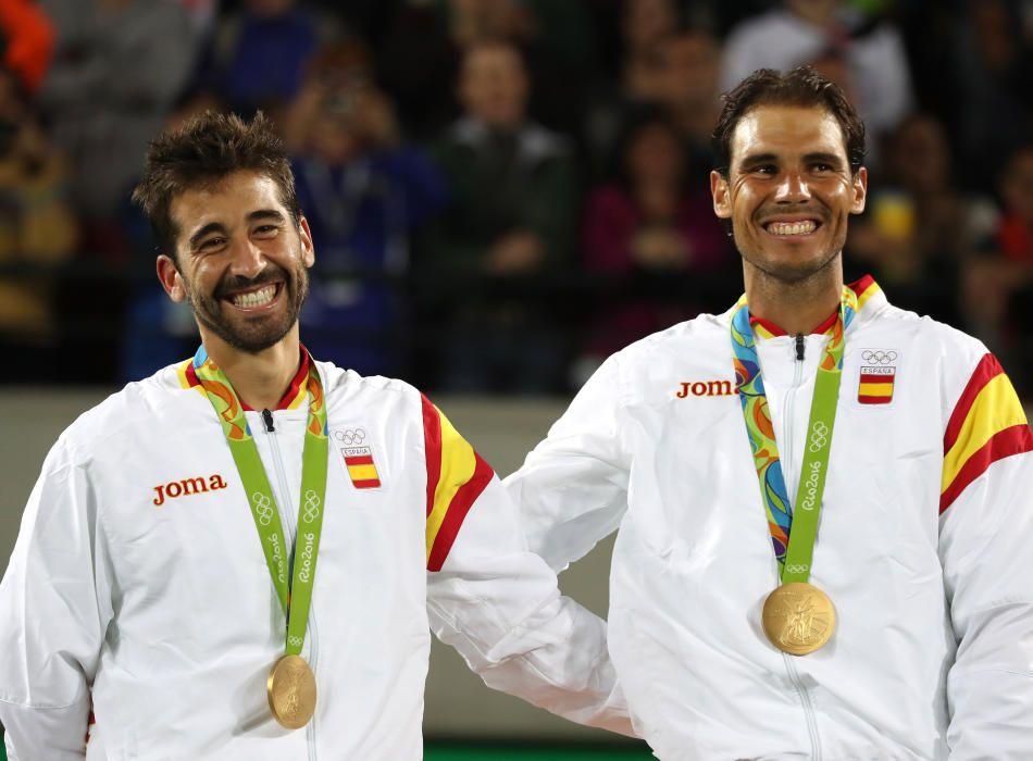 Nadal y López: Oro en tenis de dobles