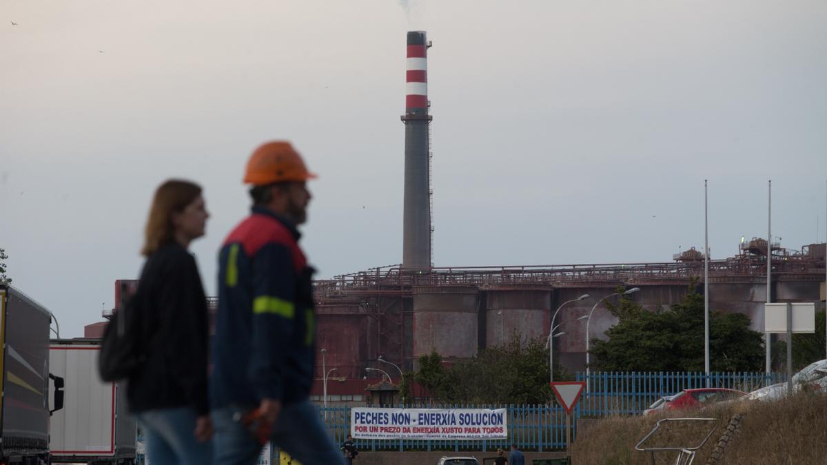 Imagen de la fábrica de Alcoa en San Cibrao (Lugo)