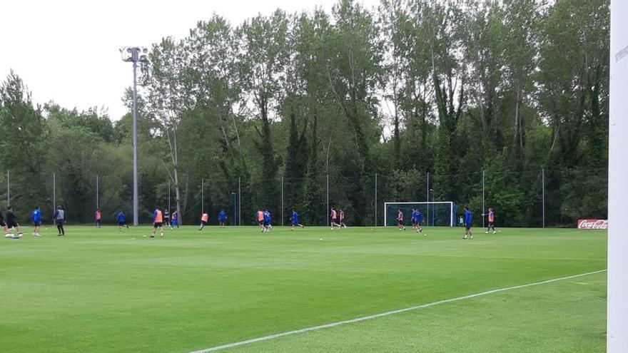 Forlín y Ramos completan una parte del entrenamiento