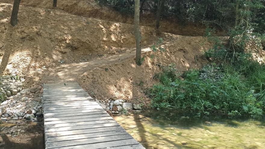 Vilafant intervé a l'entorn del Manol perquè es pugui descobrir l'espai natural