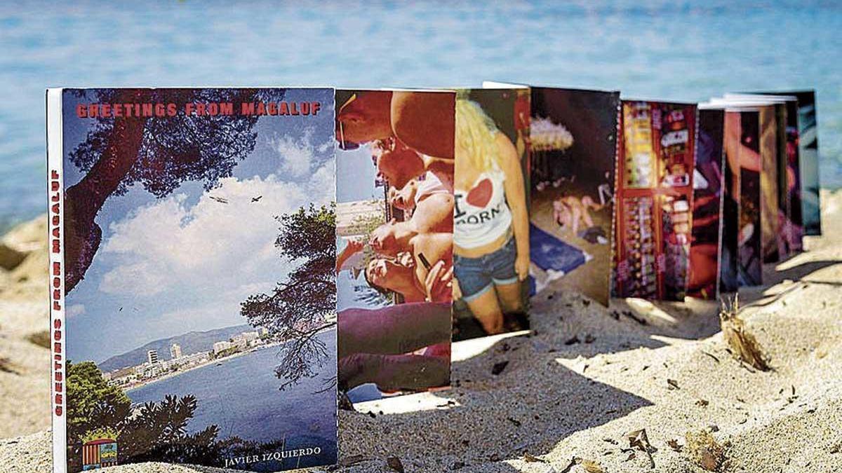 Acordeón de postales del proyecto fotográfico de Javier Izquierdo.