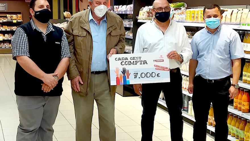 La campaña solidaria de Eroski recauda en Ibiza y Formentera un total de 7.000 euros para Cáritas