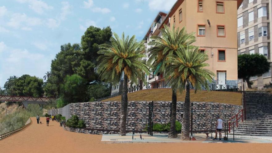El Ayuntamiento reurbanizará por vía de urgencia un tramo de la ladera del río