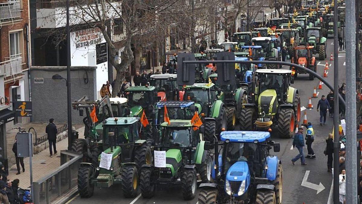Última protesta de las organizaciones agrarias en Zamora, en enero de 2020.
