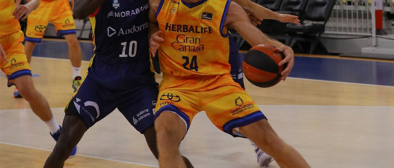 Partido entre el Granca y el Morabanc Andorra (62-79)
