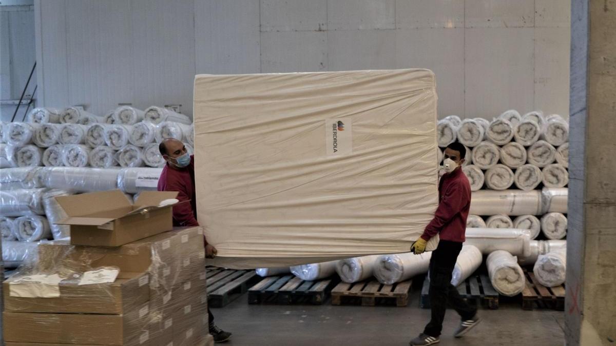 Iberdrola dona recursos al hospital de campaña valenciano.