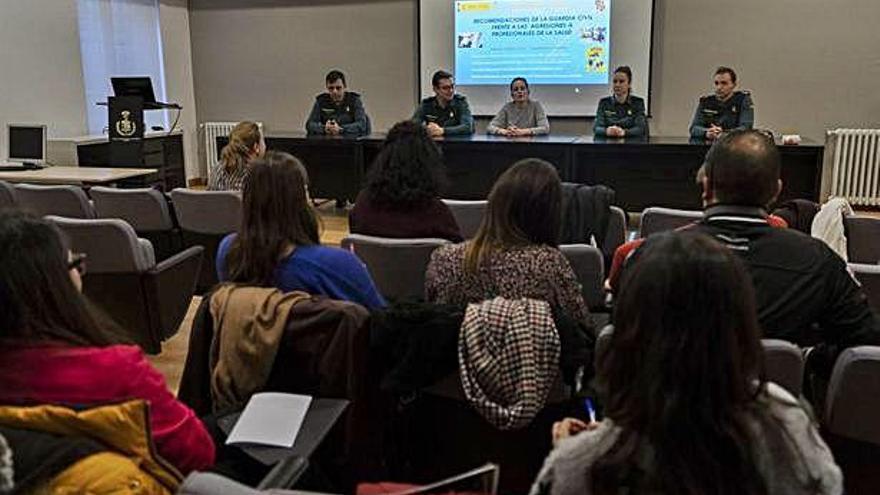 Taller impartido en la tarde de ayer en el Colegio de Médicos de Zamora.