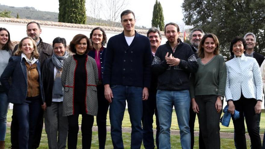 Reunió informal de Sánchez i els seus ministres per preparar l'agenda legislativa del trimestre
