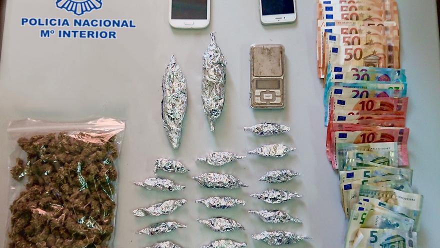 Detenidas dos personas por presunto tráfico de marihuana en Elche
