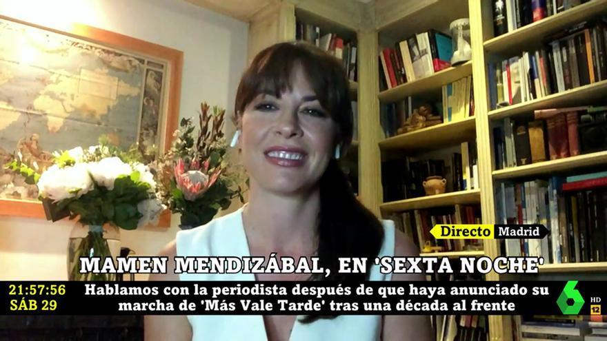 Mamen Mendizábal detalla los motivos por los que deja de presentar 'Más vale tarde'