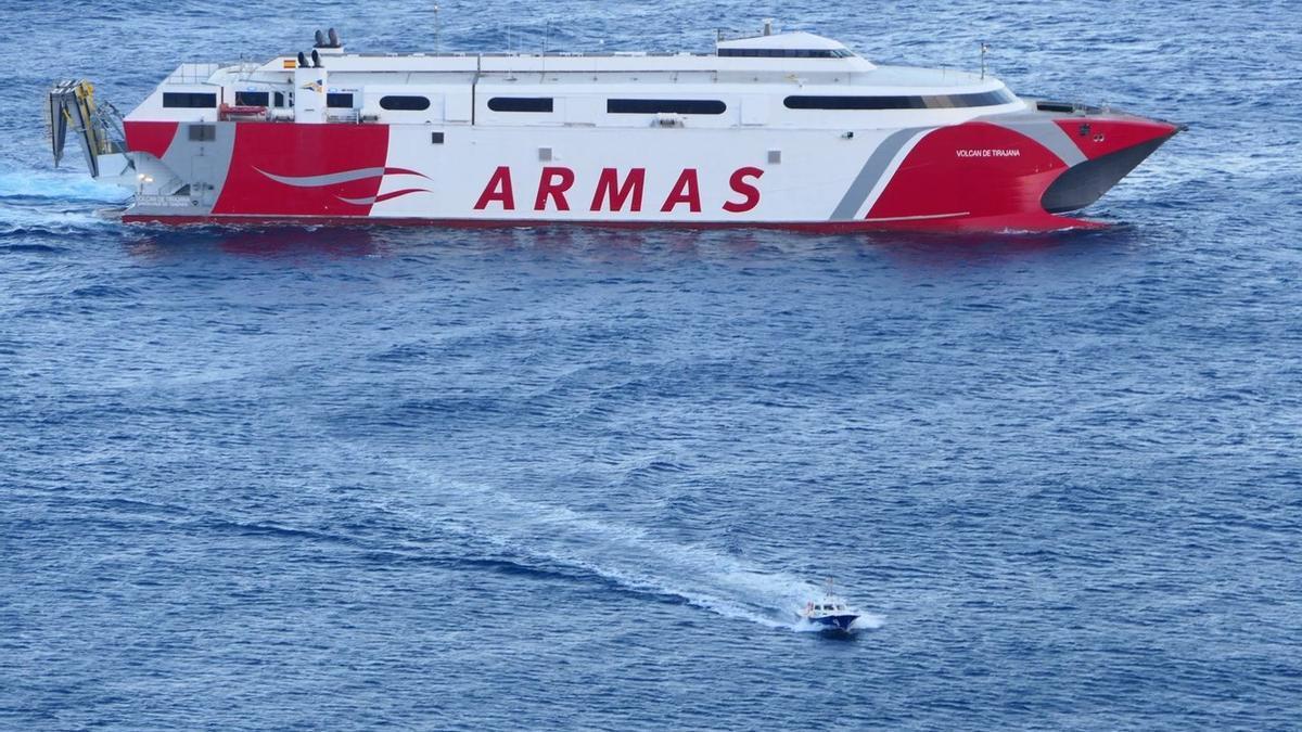 Todo listo en Armas para normalizar las conexiones marítimas con El Hierro.
