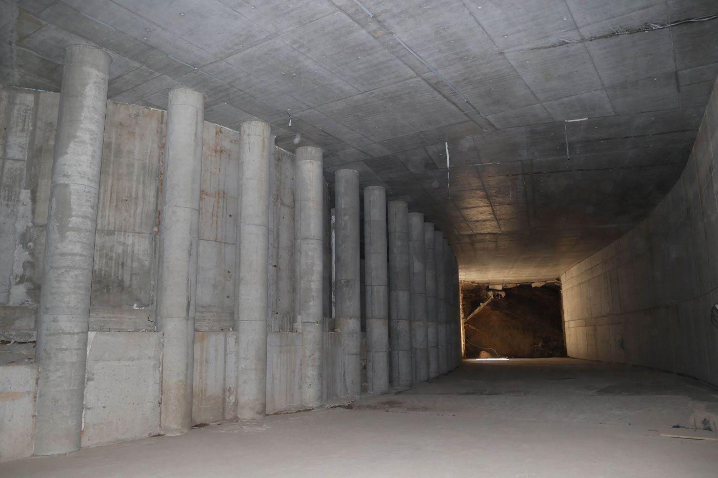 Interior del túnel que enlazará el complejo intermodal con la calle Lepanto