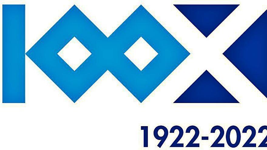 El Tenerife presenta el logo del centenario, obra de Waldemar Lemanczyk