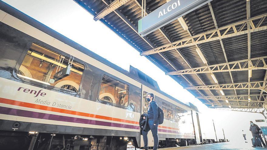 La línea Alcoy-Xàtiva es una de las más lentas de toda España